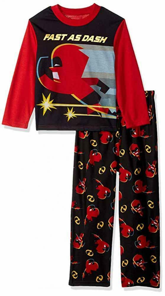 2ee743ebbc291 Details about Incredibles 2 Boys Fast As Dash 2pc Pajama Pant Set Size 4 6  8 10 $38