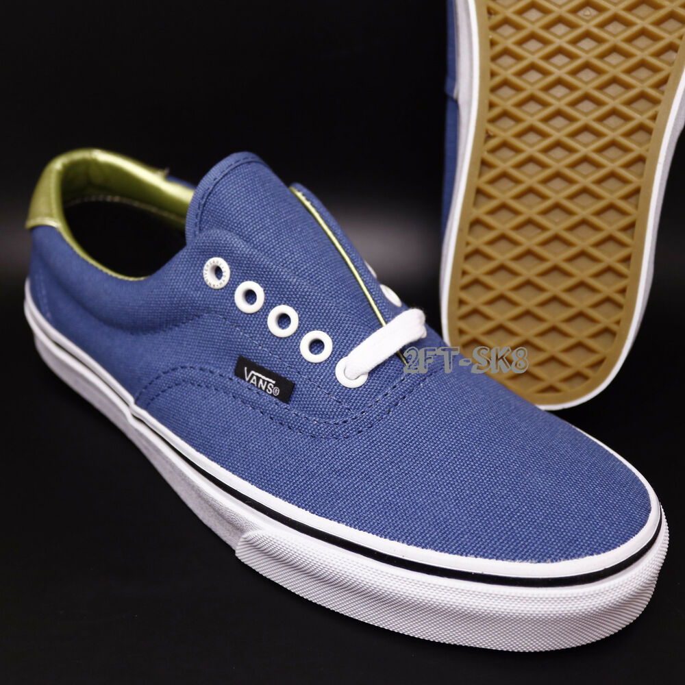 a22ca20a7aa894 Details about VANS ERA 59 50TH STV NAVY GOLD Size 8.5 SKATE SHOES   AUTHENTIC S89103.229