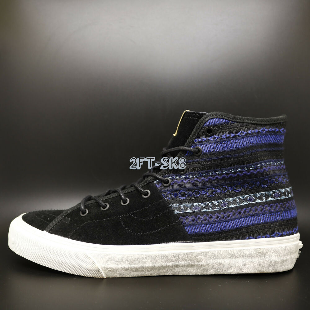 476318bc1d Details about Vans Sk8 Hi-Decon SPT CA Italian Weave Blue Black MENS SKATE  SHOES  S89122.166