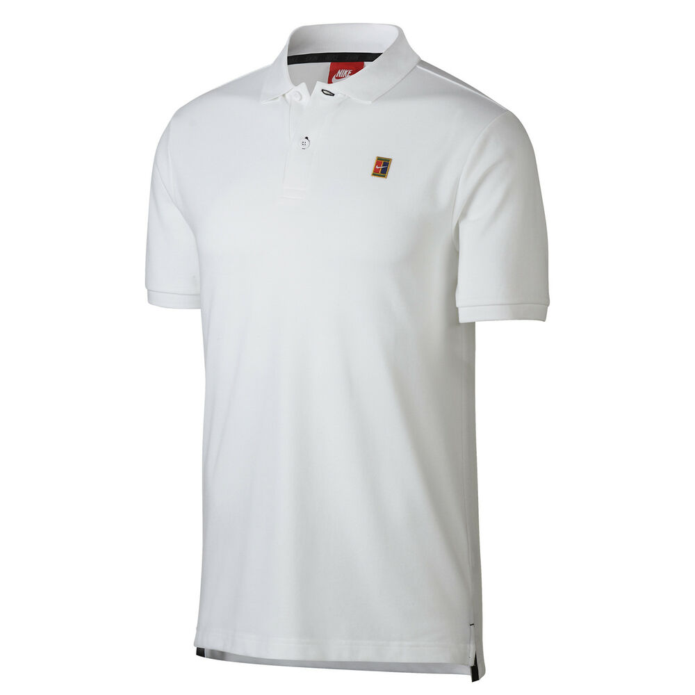 f0eebba05 Details about Nike Men's White Heritage Tennis Short Sleeve Polo Shirt