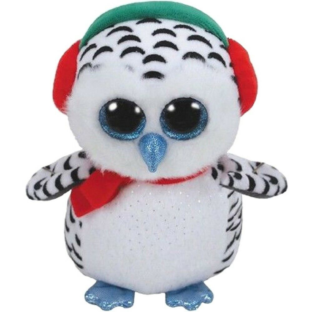 Details about Ty Beanie Boo Nester the Christmas Owl 73d56858c18