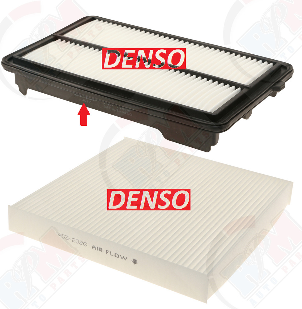 DENSO Air Filter + Cabin Filter For 2015-2019 ACURA TLX