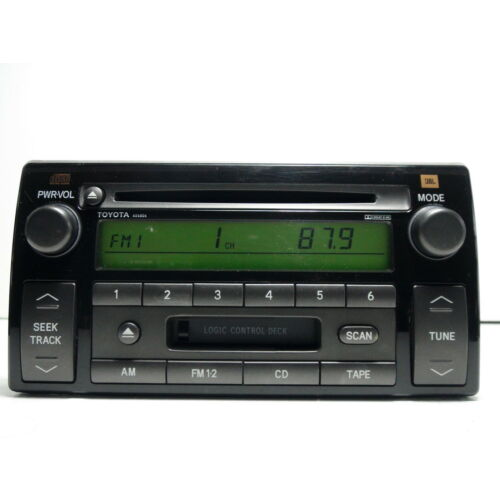 toyota-camry-20022004-cd-cassette-player-jbl-sound-delco-ad6806-green-display