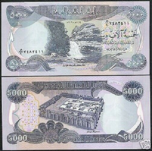 Details About Iraqi Dinars 2 X 5000 Iraq Dinar Banknotes 10 000 Total Money Bank Note