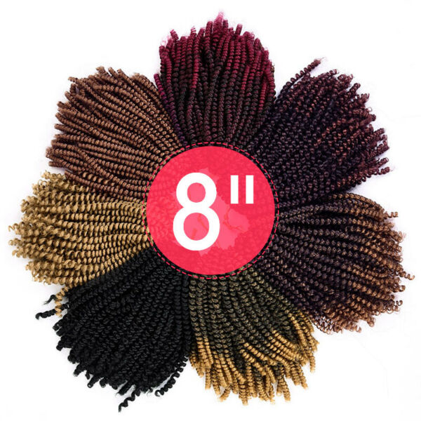 30 Strands Ombre Synthetic Crochet Braids Spring Twist Braiding Hair Extensions
