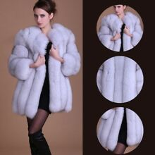 Women Thick Fluffy Faux Fur Luxury Coat Warm Parka Overcoat Long Jacket Outwear