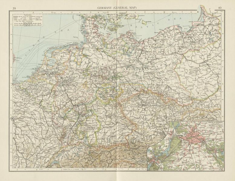 Germany Poland Prussia Berlin Environs Benelux The Times 1900