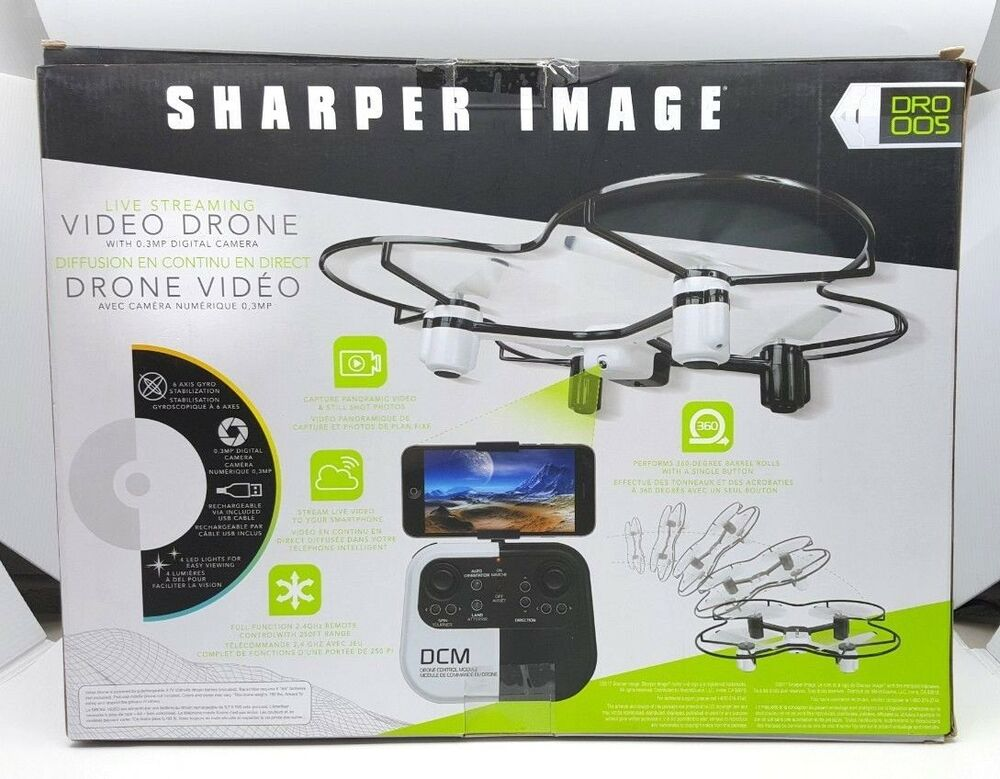 Sharper Image Dro 005 Video Drone Live Streaming 03mp Camera