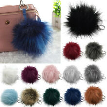 Fashion Faux Fur Pom Pom Key Chain Bag Charm Fluffy Puff Ball Pendant Key Ring