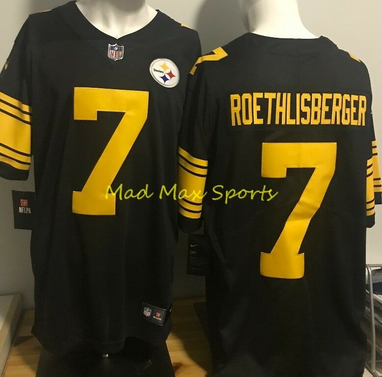 Cheap BEN ROETHLISBERGER Pittsburgh STEELERS Limited COLOR RUSH Throwback  free shipping