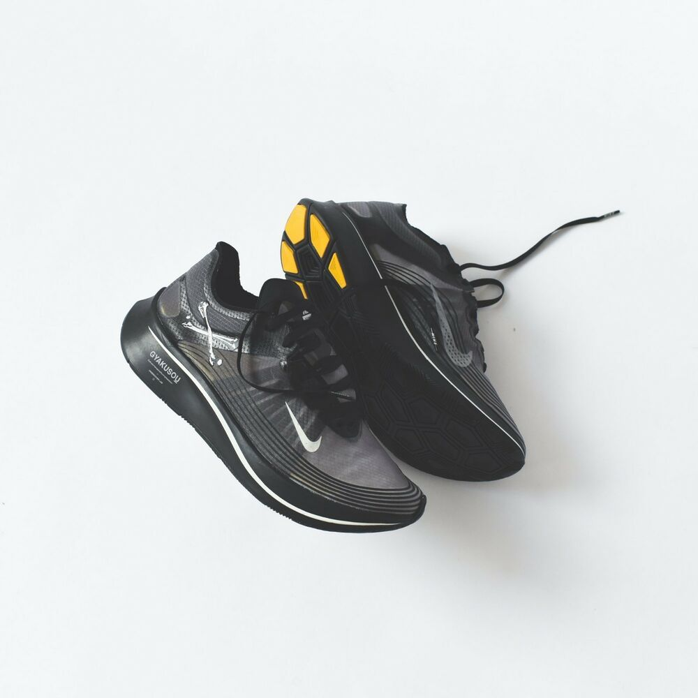 e6877b5141d0 Details about Limited Edition Undercover Gyakusou x Nike Zoom Fly SP Black  Sail Mineral Yellow