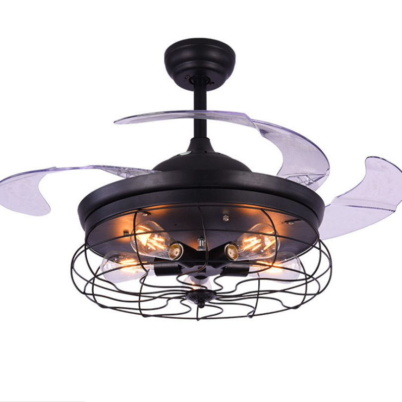 Details About 42 Retro Ceiling Fan Light Fixture Chandelier Pendant Lamp 4 Retractable Blades