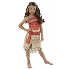 Disney Moana Girls Adventure Outfit Costume Size 4-6X Dress up for Kids Age 3+