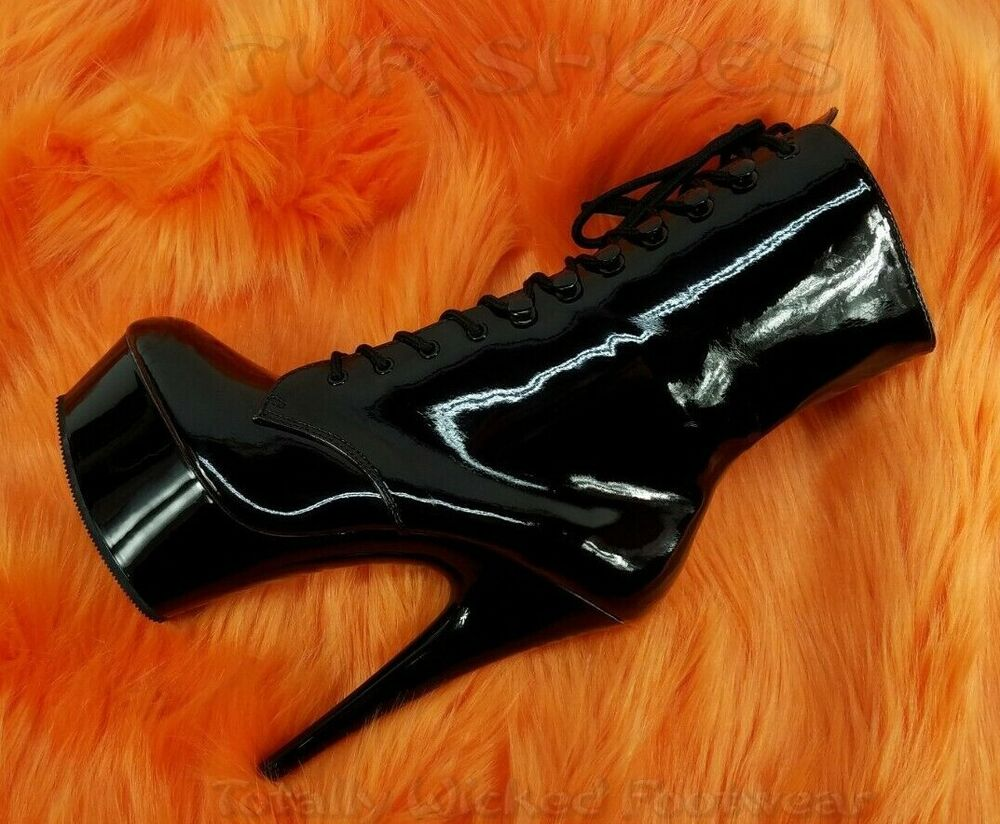 b2fba005ad0e Details about Delight 1020 Black Patent Lace Up 6