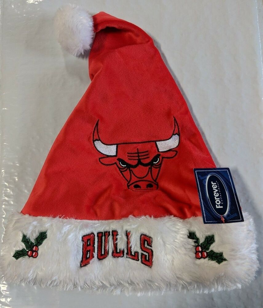 Details about Chicago Bulls Team Logo Holiday Plush Santa Hat NEW! NBA  Christmas Solid Red acc20ec3f