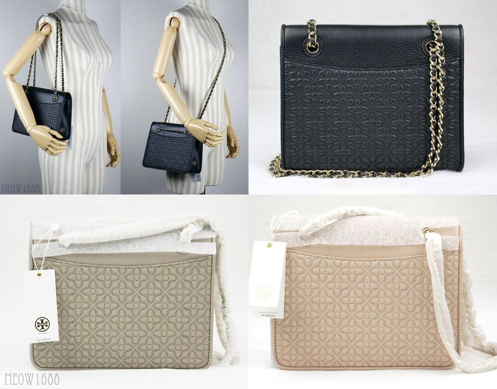 f8faded94ca1 Tory Burch BRYANT Quilted Leather Shoulder Bag Cross Body Messenger 39068   465