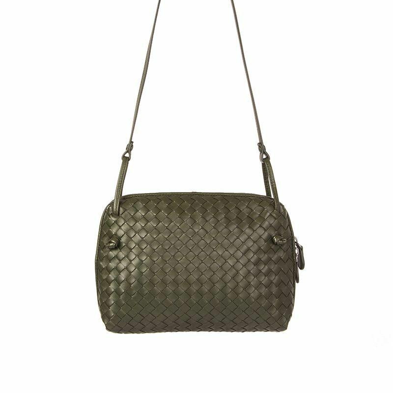 Details about 55418 auth BOTTEGA VENETA forest green INTRECCIATO NODINI  Crossbody Shoulder Bag 6bb17382c9316