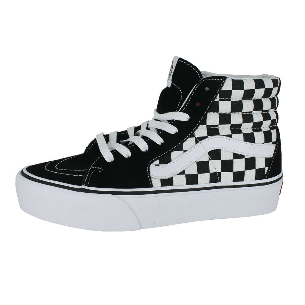 ceb37c4d5f Details about VANS SK8 HI PLATFORM 2.0 CHECKERBOARD TRUE WHITE MENS US SIZES