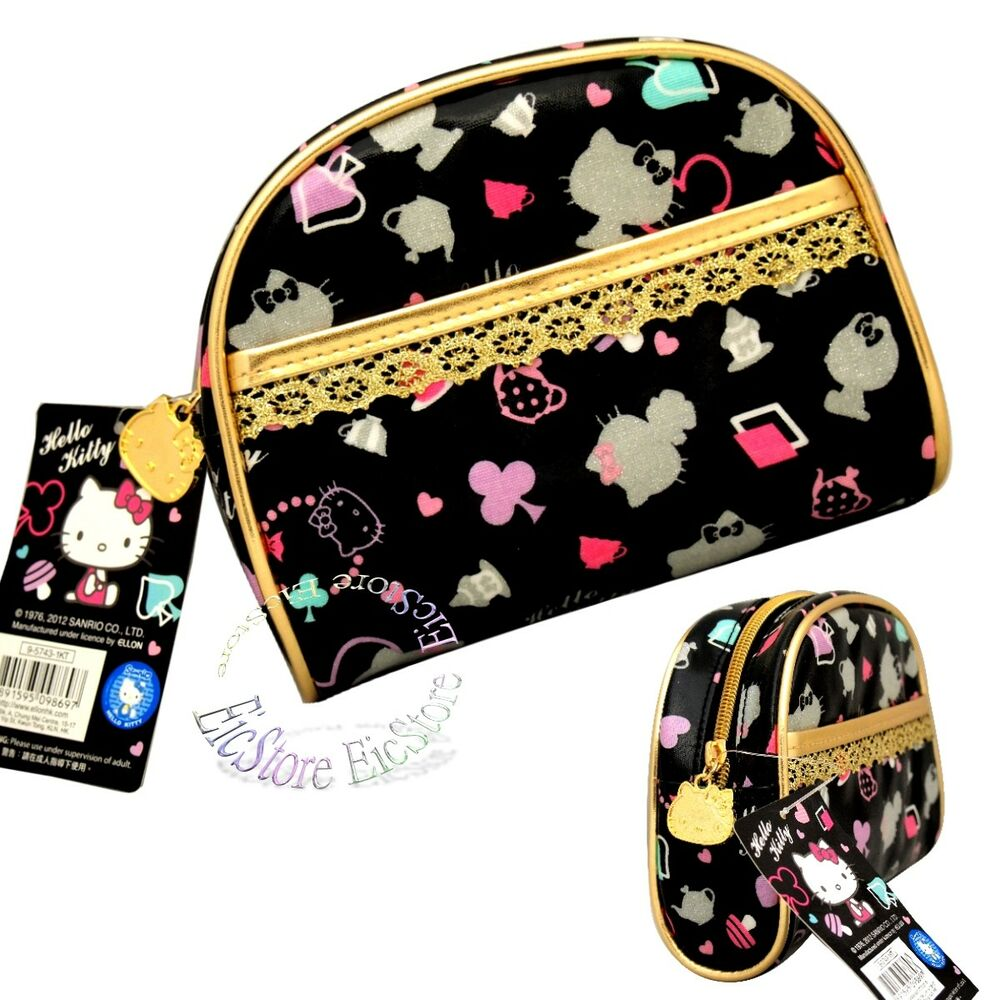 Details about Sanrio Hello Kitty Lady Party Travel Makeup Cosmetic Clutch Bag  Case cd84a727b56aa