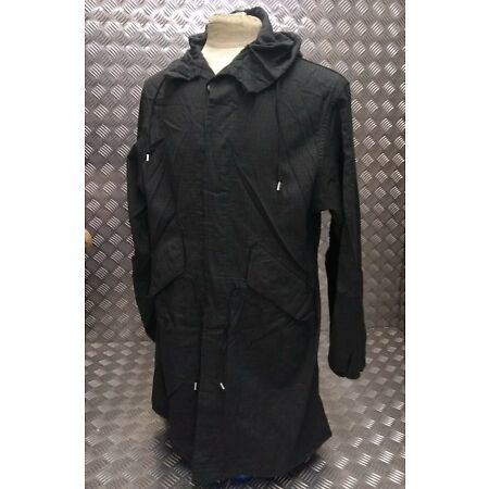 img-Genuine Vintage US Army Fishtail Parka Over Dyed Black MOD / Scooter USNP01
