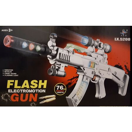 img-AK47 ARMY FORCE GUN LED LIGHTS FIRING SOUND ROTARY BULLETS 76CM GIRLS BOYS TOY