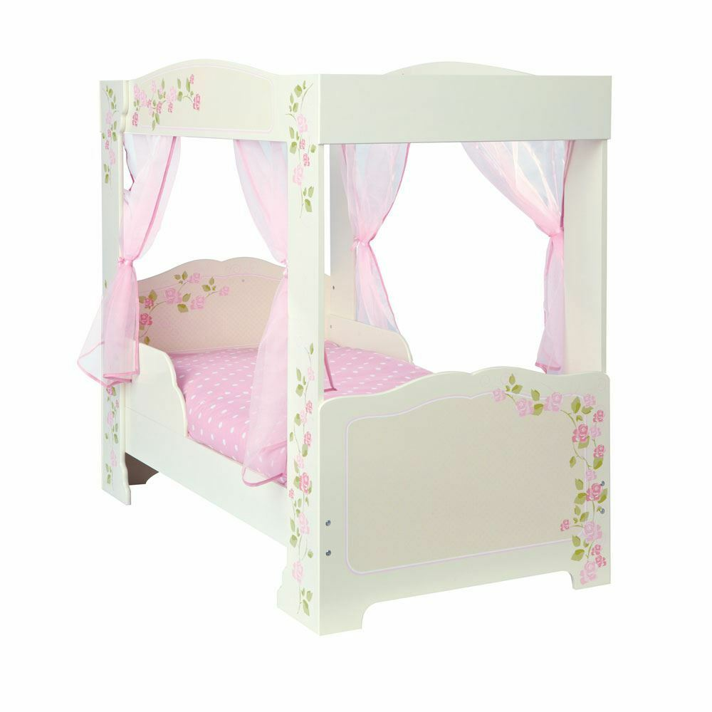 S Rose 4 Poster Toddler Junior Bed Age 18 Months Furniture Pink Free P 5013138637999 Ebay