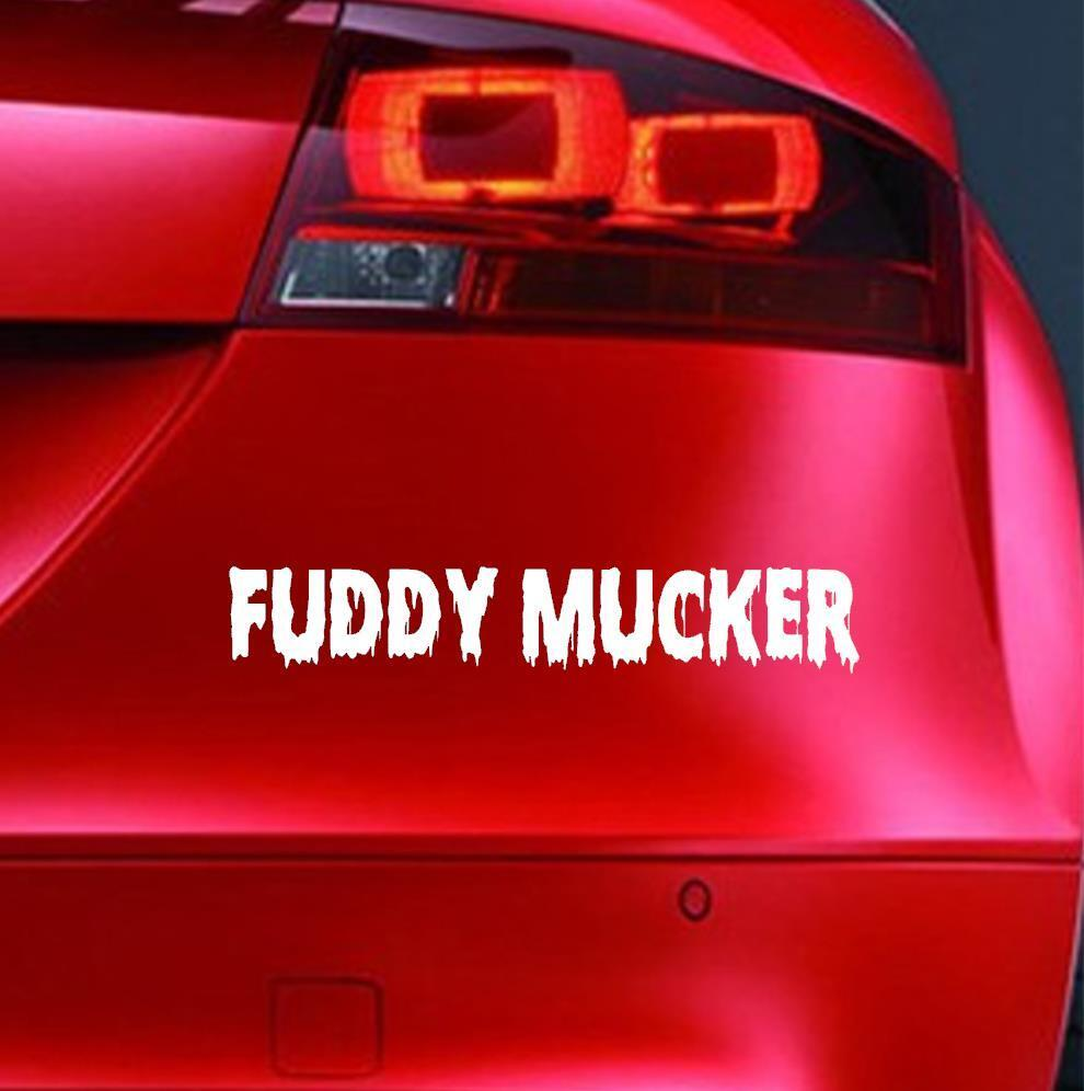 Details about fuddy mucker sticker funny car window bumper off road 4x4 joke decal jdm euro