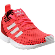 adidas ZX Flux Primeknit Youth Running Shoes- Pink- Girls