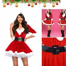 Christmas Mrs Santa Claus Fancy Dress Xmas Ladies Womens Adults Costume Outfit