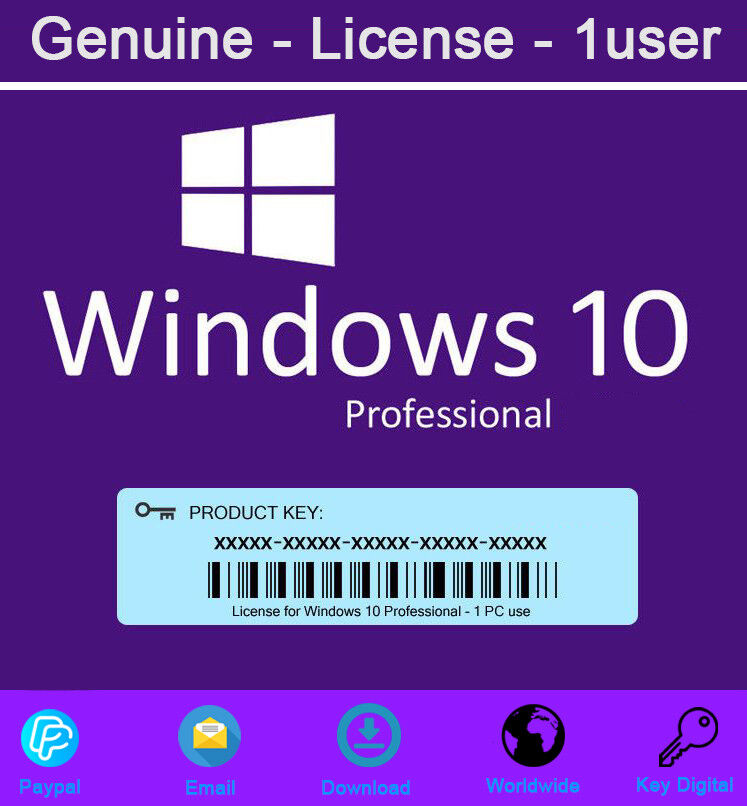 Genuine Windows 10 Pro Product Key 32 and 64 bit For ...