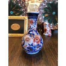 JAPANESE IMARI PORCELAIN BOTTLE VASE - LATE 19TH CENTURY