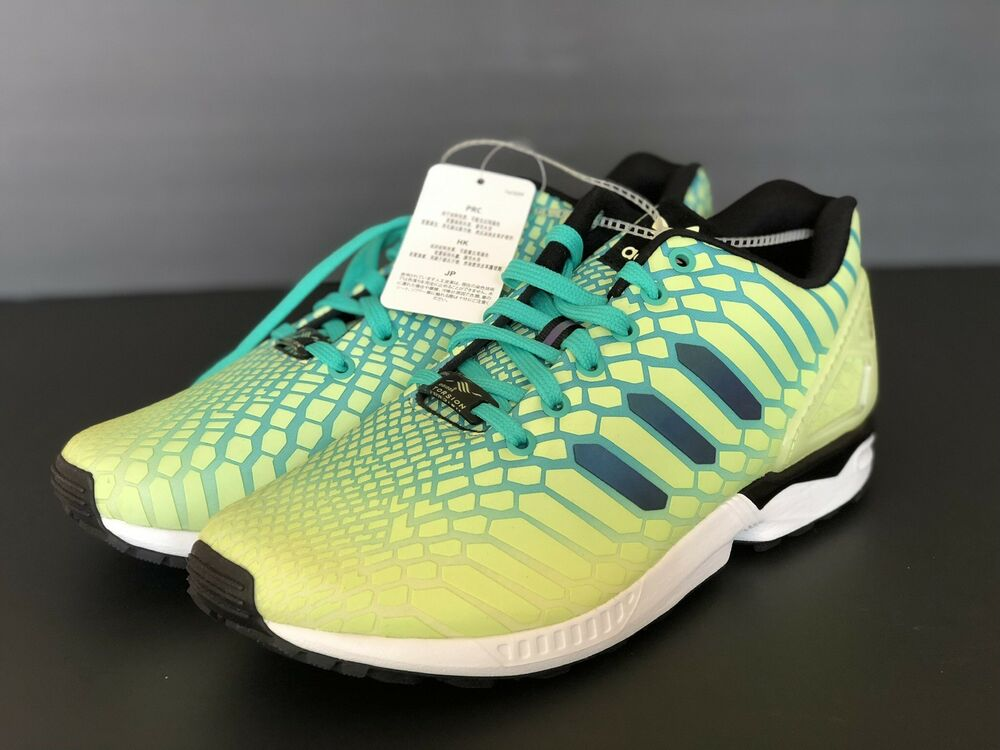 d5c300b2de477 Details about New Adidas ZX Flux Xeno Mens Size 10 Frozen Yellow   Glow In  The Dark AQ8212