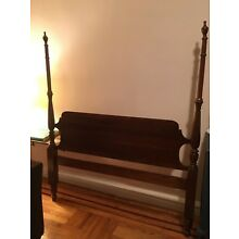 Solid Cherry Full Size 4 Poster Bed Frame Antique