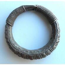 Beautiful Old Hollow Coin Silver Hilltribe Bracelet Laos SE Asia