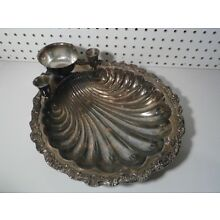 Vintage International Silver Co. Countess 6297 Shrimp Cocktail Shell Bowl