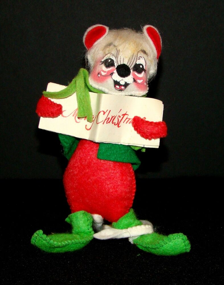 Vintage 1971 Annalee Skiing Mouse As Is Red Green By Brand, Company, Character
