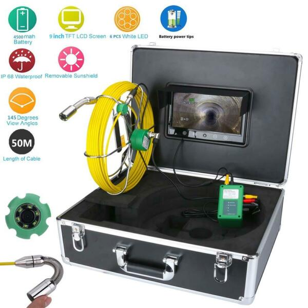 50M Pipe Inspection Video Camera Waterproof 9