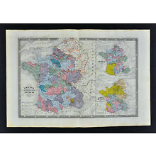 1862 Ansart Map - France Louis XI - Joan of Arc 1428 Orleans - Hundred Years War