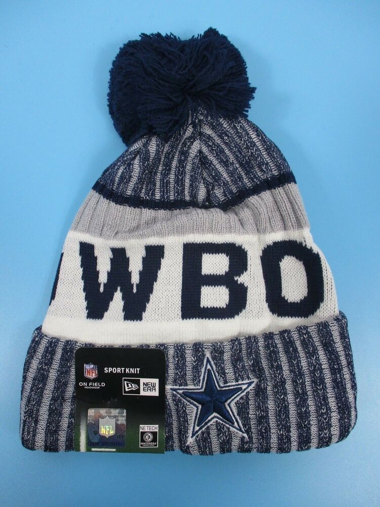 98935b293d1f6 Details about Dallas Cowboys - New Era - Knit Winter Hat (Fold UP Style  with Pom Pom)