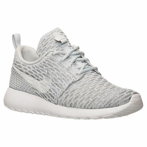 0c756e0829f Details about AUTHENTIC Nike Roshe Run One Flyknit Wolf Grey White 704927  002 Women size