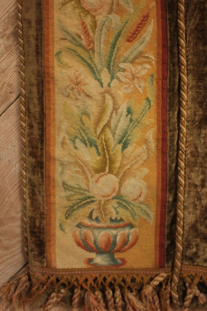 Tapestry Antique French Arts Amp Crafts Needlepoint Border