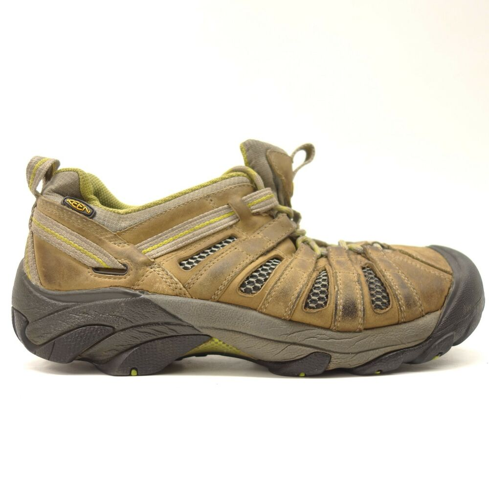 e2659c13379 Details about Keen Mens Voyageur Low Leather Athletic Soft Toe Hiking  Leather Shoes Size 9.5
