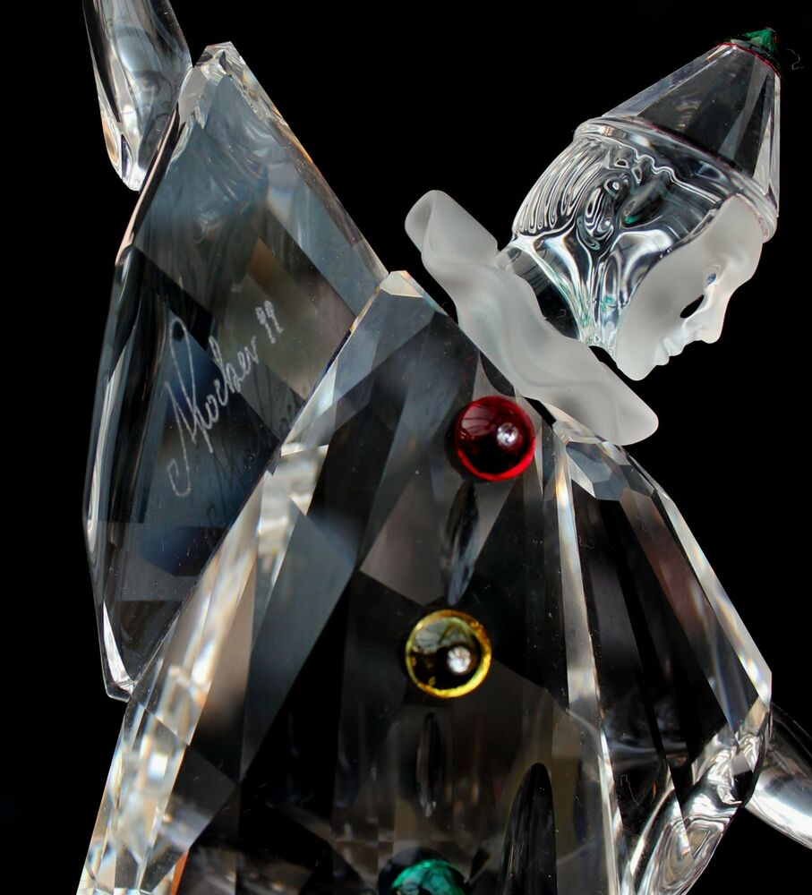 4a38f1bb78b5d3 Details about SIGNED BY ADI STOKER Pierrot Swarovski Collectors Society  1999 exclusive piece
