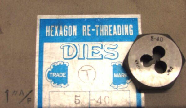 NOS! ProCut #5-40NC HEXAGON RE THREADING DIE, 1