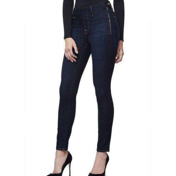 Nwt Good American Denim Good Legs Gagl899 Blue001 Skinny Jeans Sz:8 Clothing, Shoes, Accessories