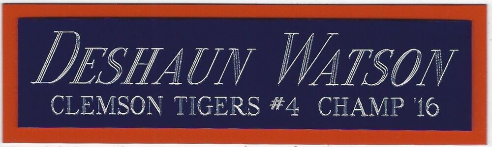cheaper d05e0 418dd BRIAN DAWKINS CLEMSON TIGERS NAMEPLATE FOR AUTOGRAPHED SIGNED FOOTBALL  JERSEY | eBay