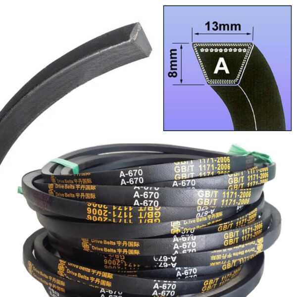 V Belt A Section Sizes 8mm*13mm A15-A59  For Industrial Lawn Mower High Quality