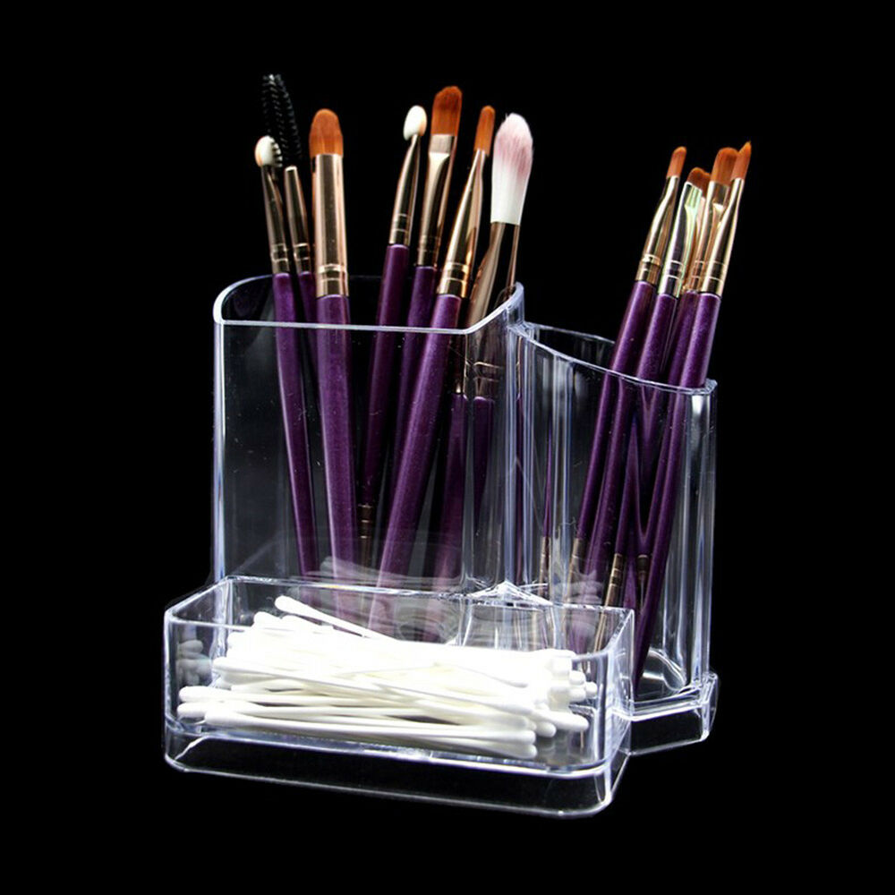 Acrylic Clear Cosmetic Organizer Brush Pen Storage Holder Stand