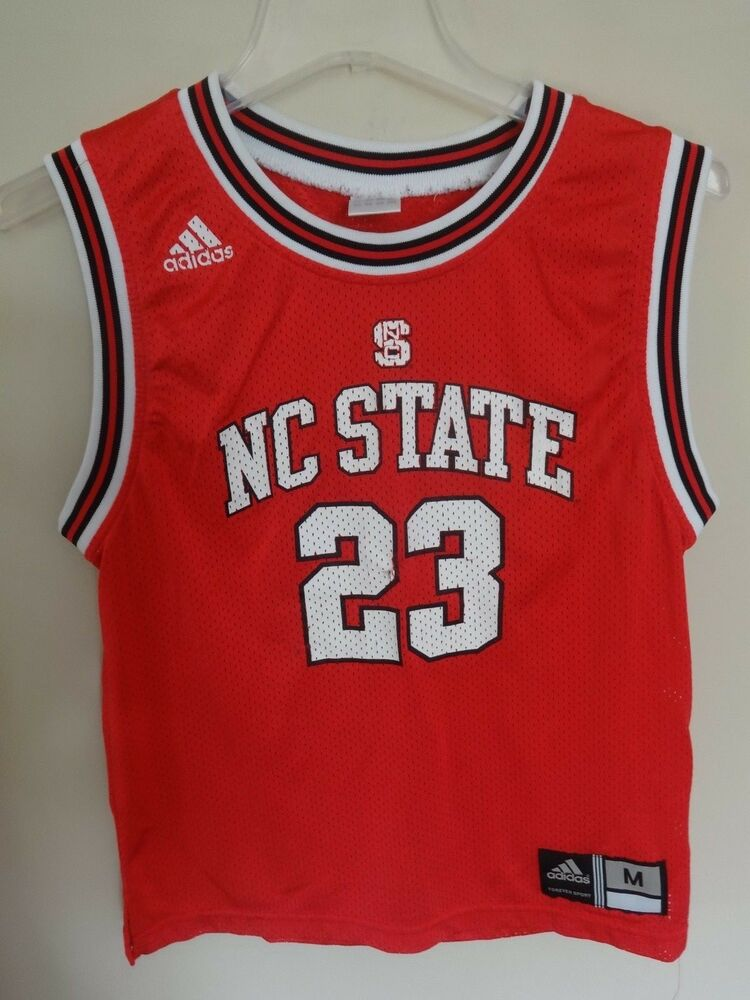 2ffc31e943c Details about EUC NCAA NC State Wolfpack Basketball Jersey Youth Medium  10-12 by Adidas