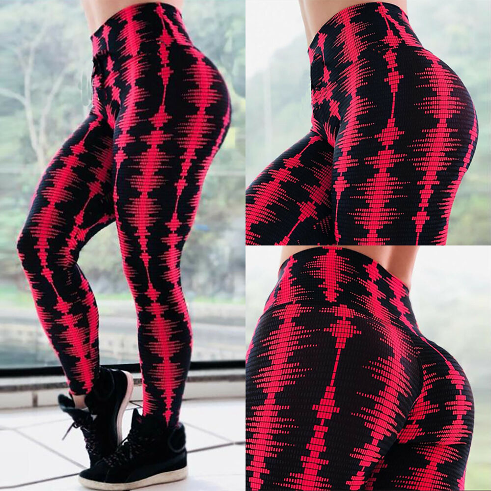 5f956cf93a9764 Details about Women's Floral High Waist Yoga Fitness Running Gym Leggings  Sport Pants Trouser